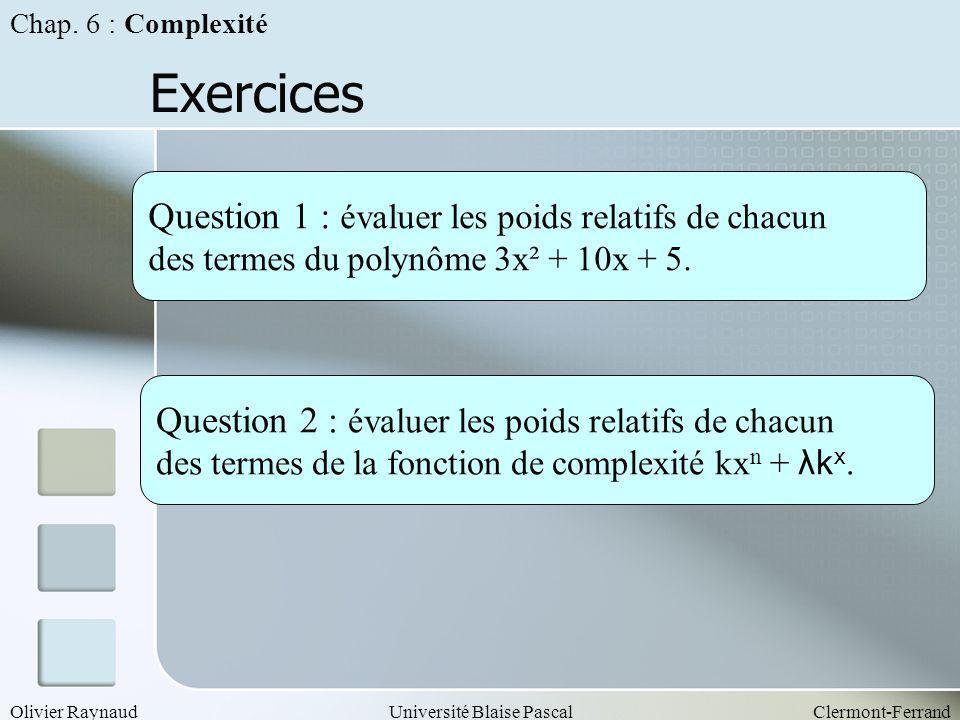 Exercices Question 1 : évaluer les poids relatifs de chacun