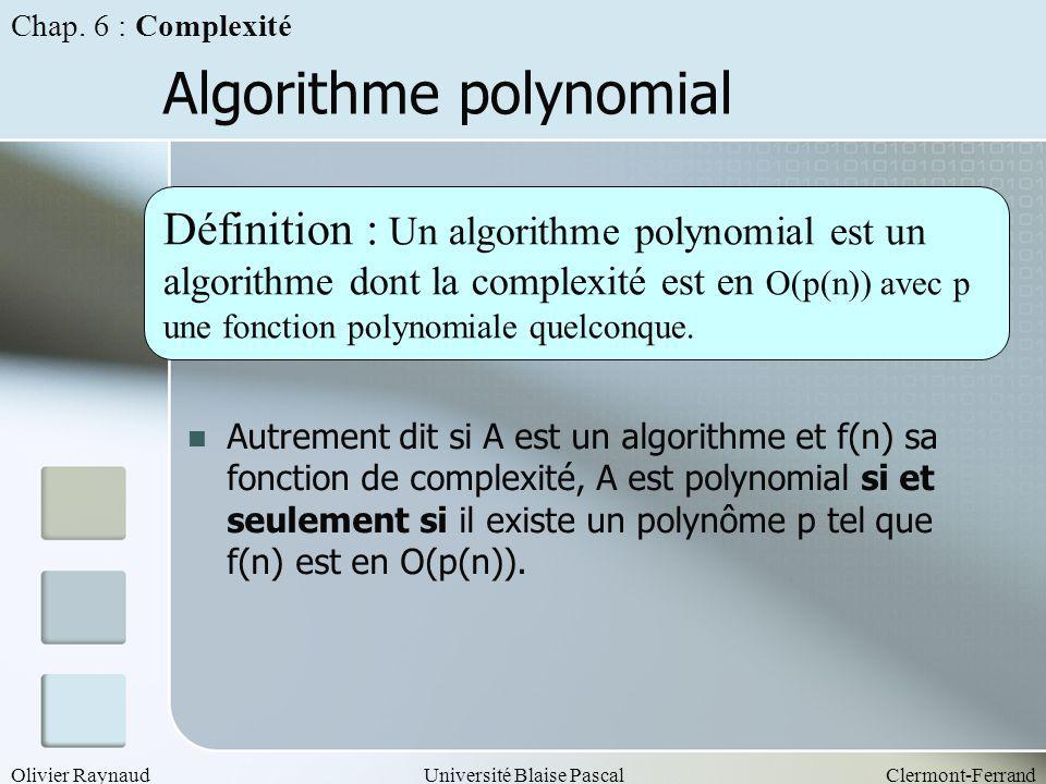 Algorithme polynomial