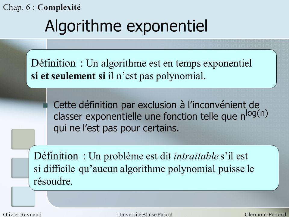 Algorithme exponentiel