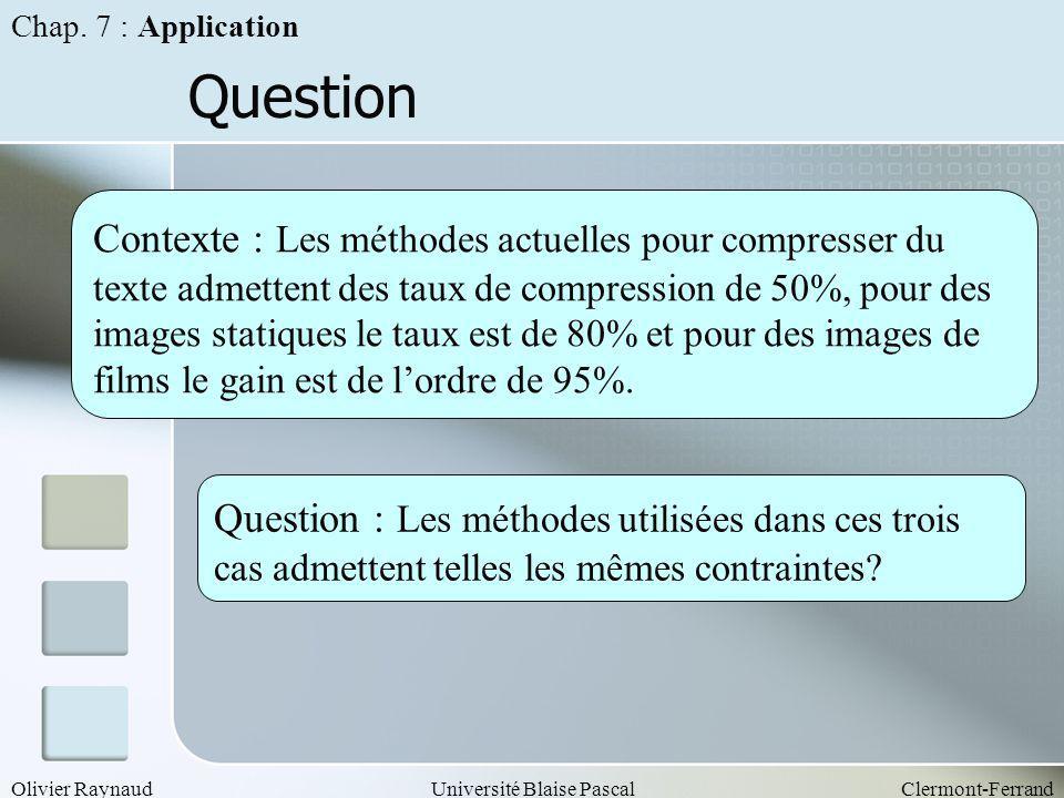 Chap. 7 : Application Question.