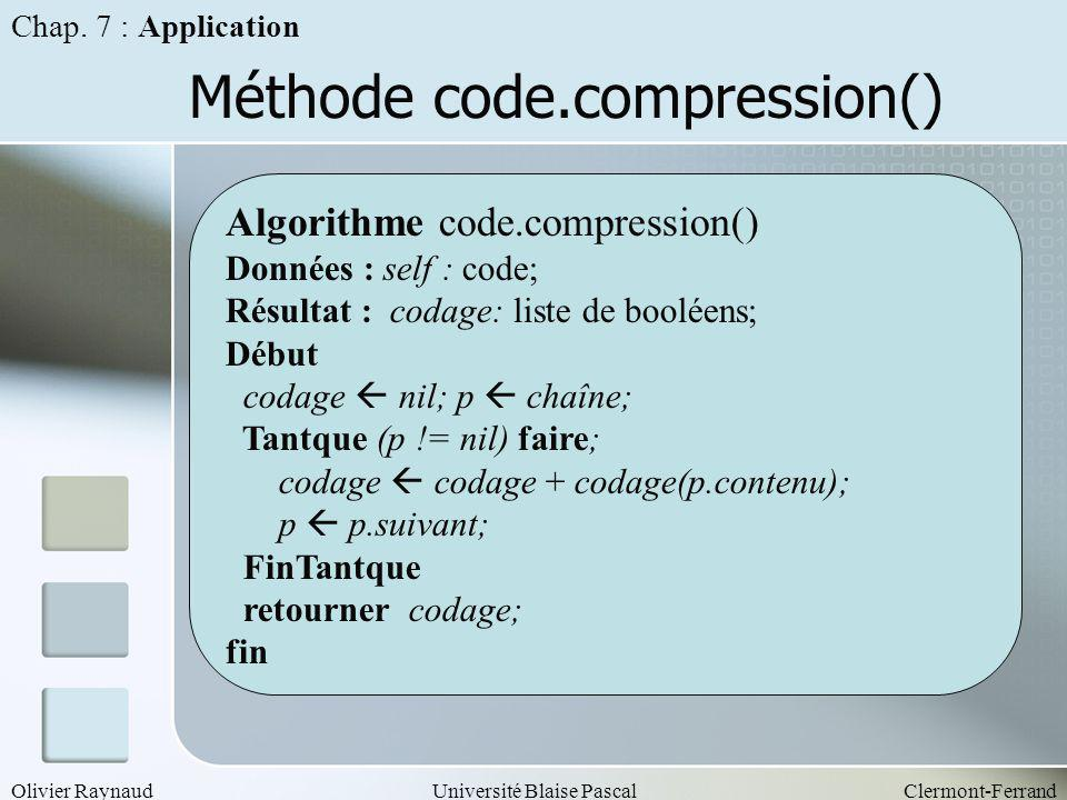 Méthode code.compression()