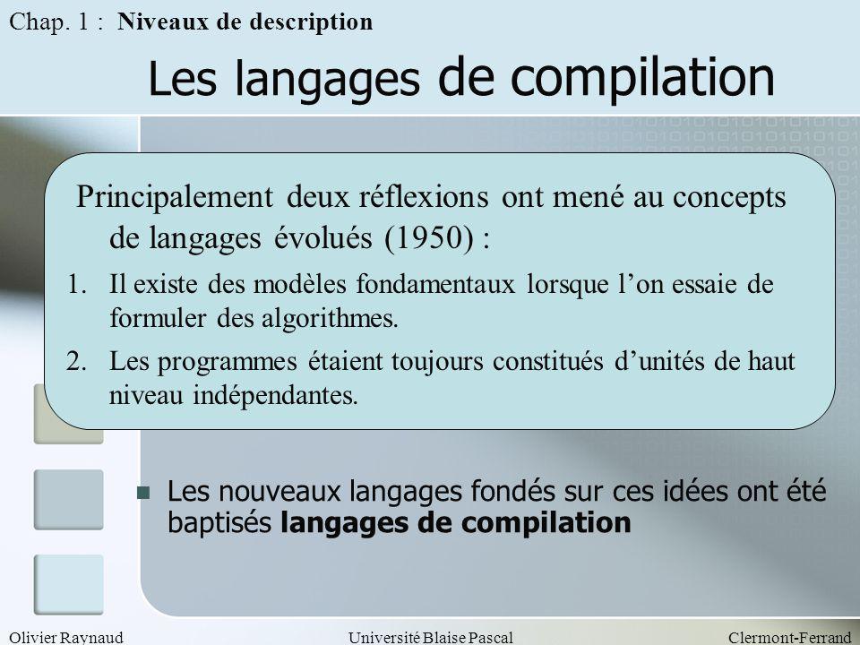 Les langages de compilation