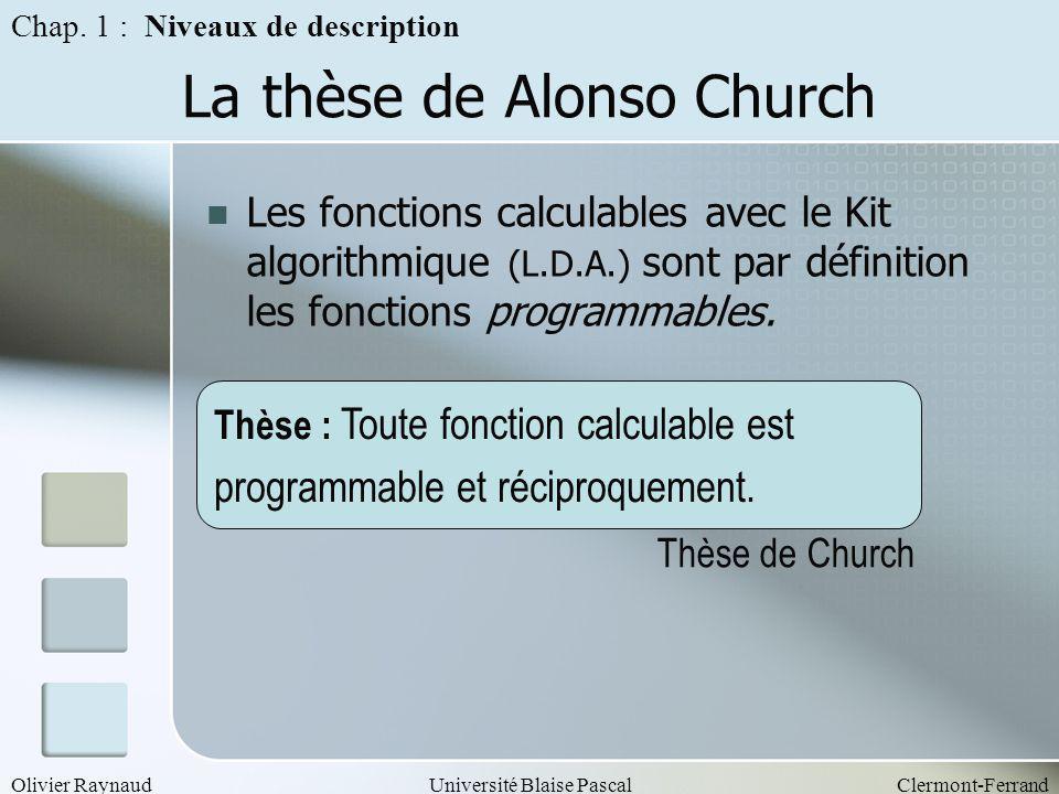 La thèse de Alonso Church