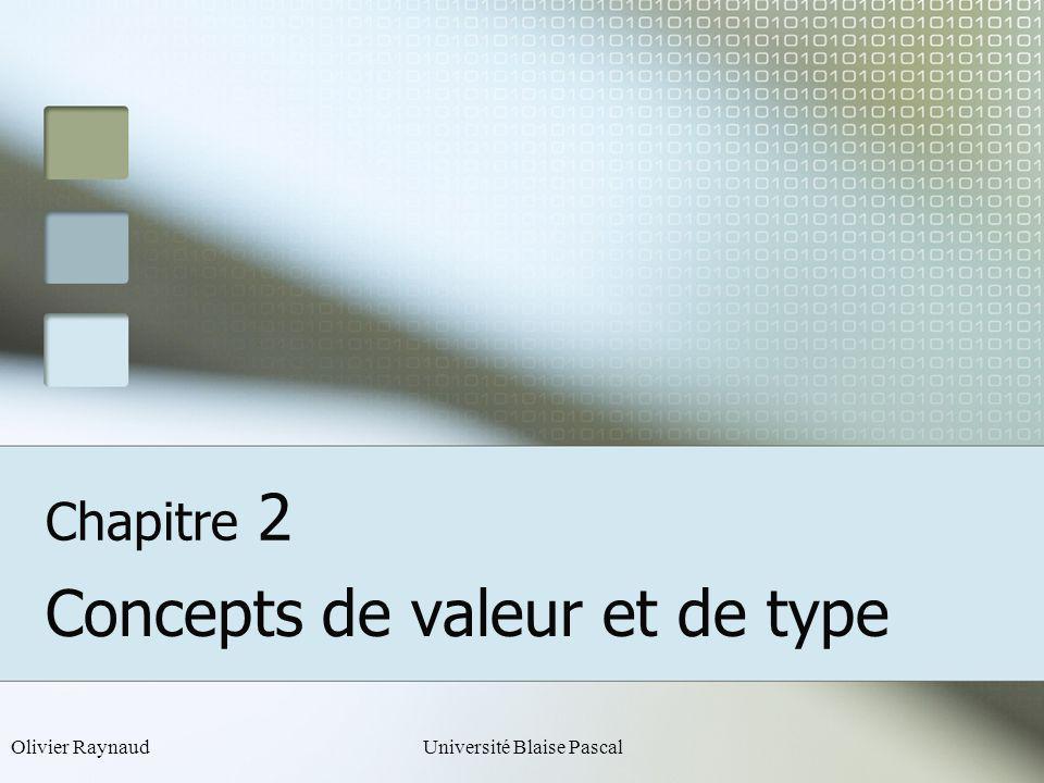 Concepts de valeur et de type