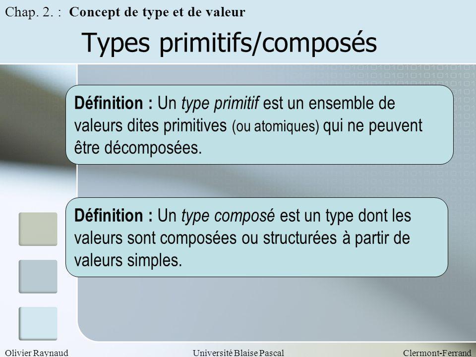 Types primitifs/composés