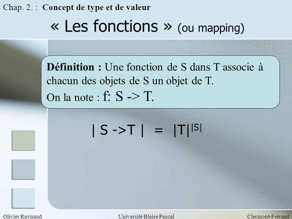 « Les fonctions » (ou mapping)