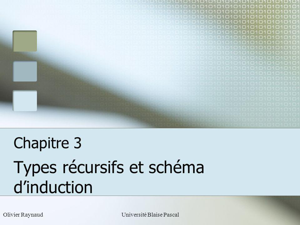Types récursifs et schéma d'induction