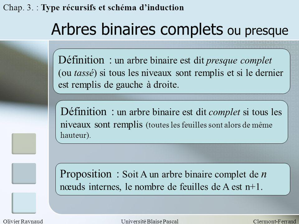 Arbres binaires complets ou presque