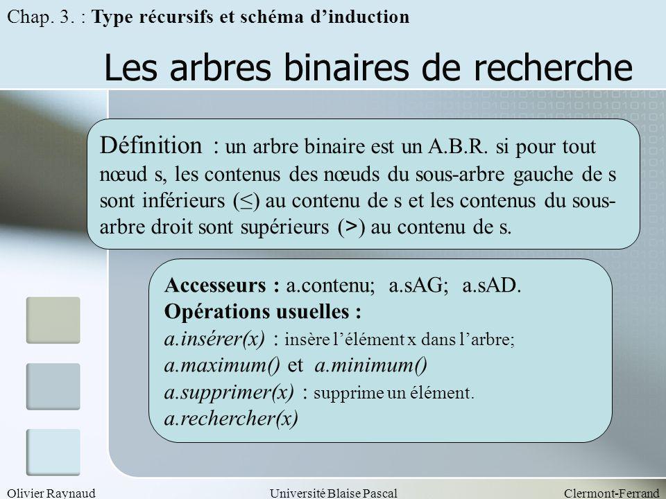 Les arbres binaires de recherche