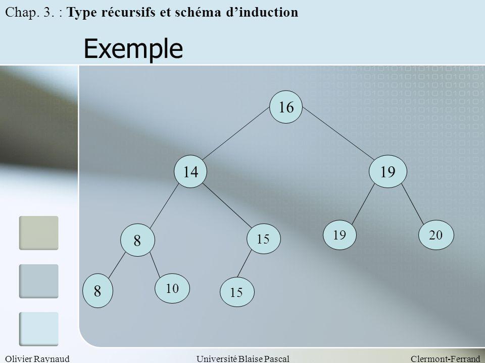 Exemple 16 14 19 8 8 Chap. 3. : Type récursifs et schéma d'induction