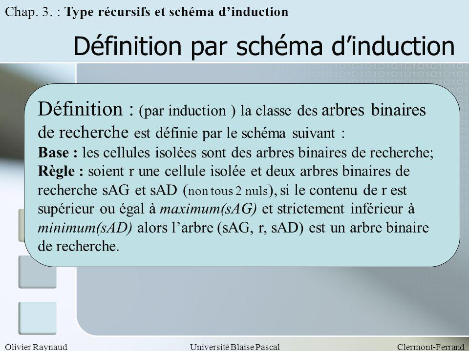 Définition par schéma d'induction
