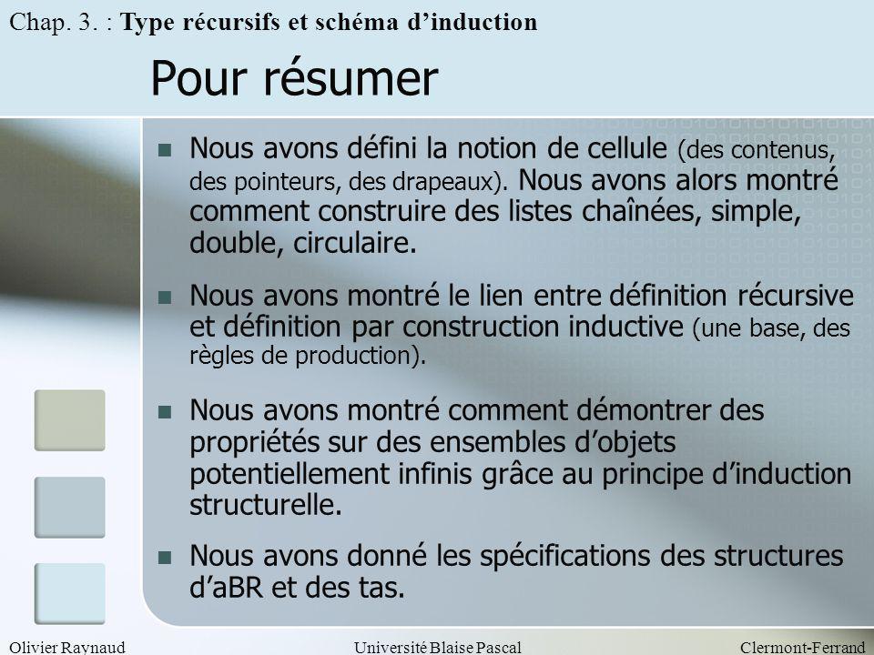Chap. 3. : Type récursifs et schéma d'induction