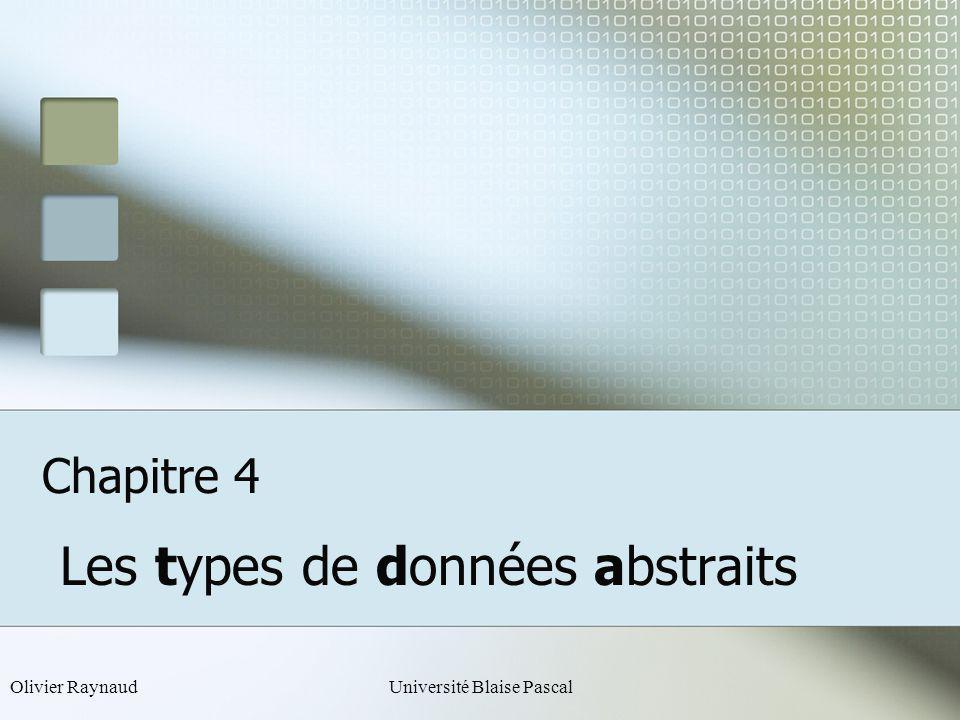 Les types de données abstraits