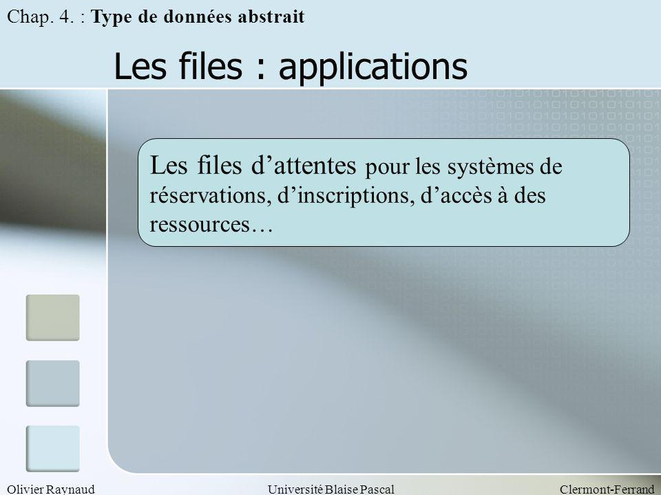 Les files : applications