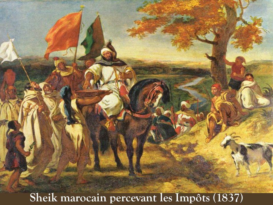 Sheik marocain percevant les Impôts (1837)