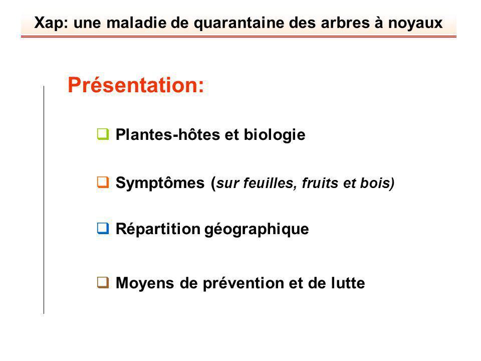 Présentation: Plantes-hôtes et biologie
