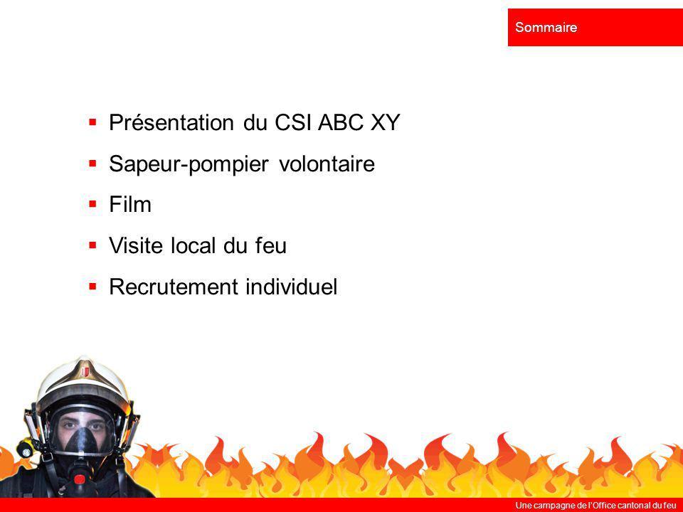 Présentation du CSI ABC XY Sapeur-pompier volontaire Film