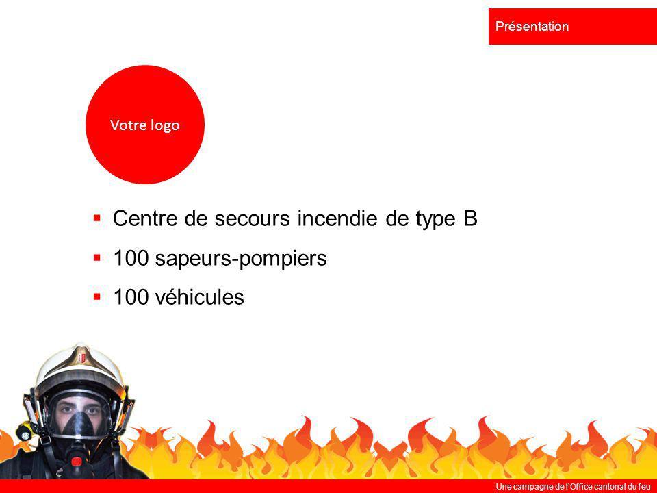 Centre de secours incendie de type B 100 sapeurs-pompiers