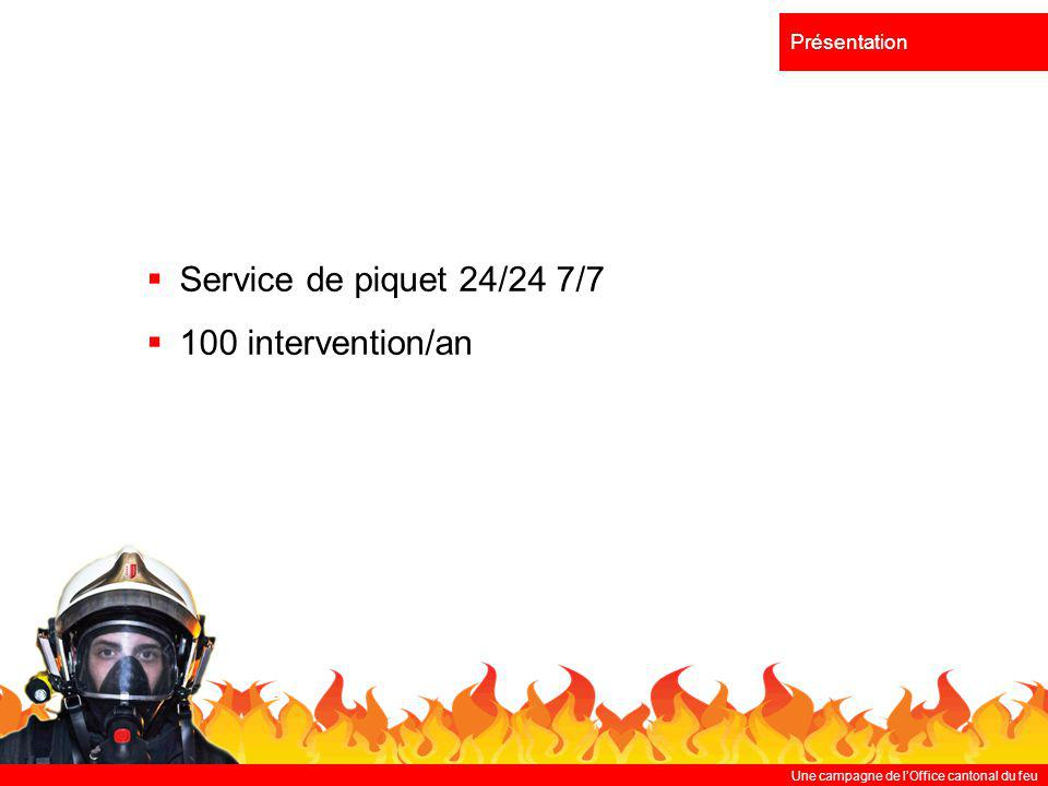 Service de piquet 24/24 7/7 100 intervention/an Présentation