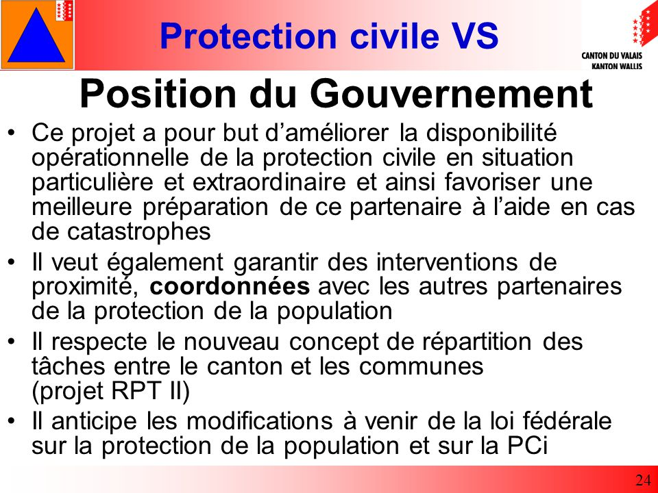 Position du Gouvernement