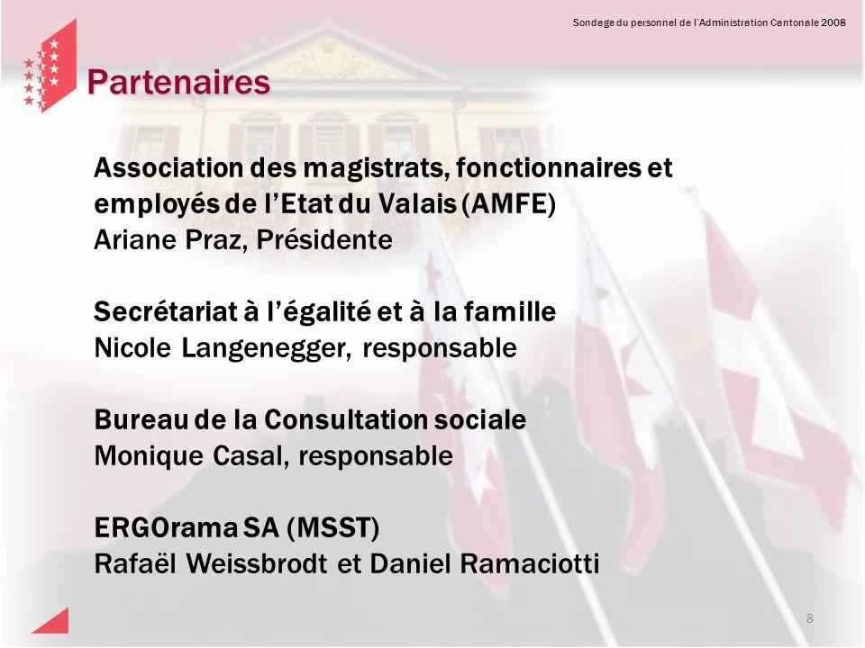 Partenaires Association des magistrats, fonctionnaires et employés de l'Etat du Valais (AMFE) Ariane Praz, Présidente.