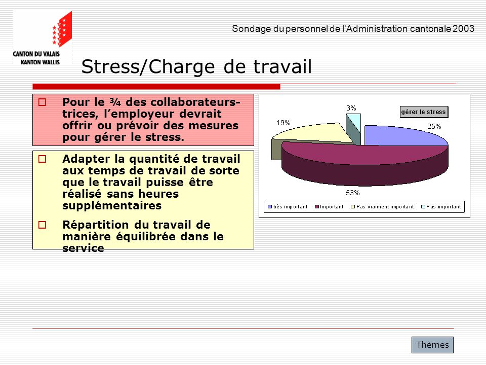 Stress/Charge de travail