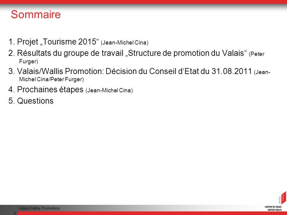 """Sommaire 1. Projet """"Tourisme 2015 (Jean-Michel Cina)"""