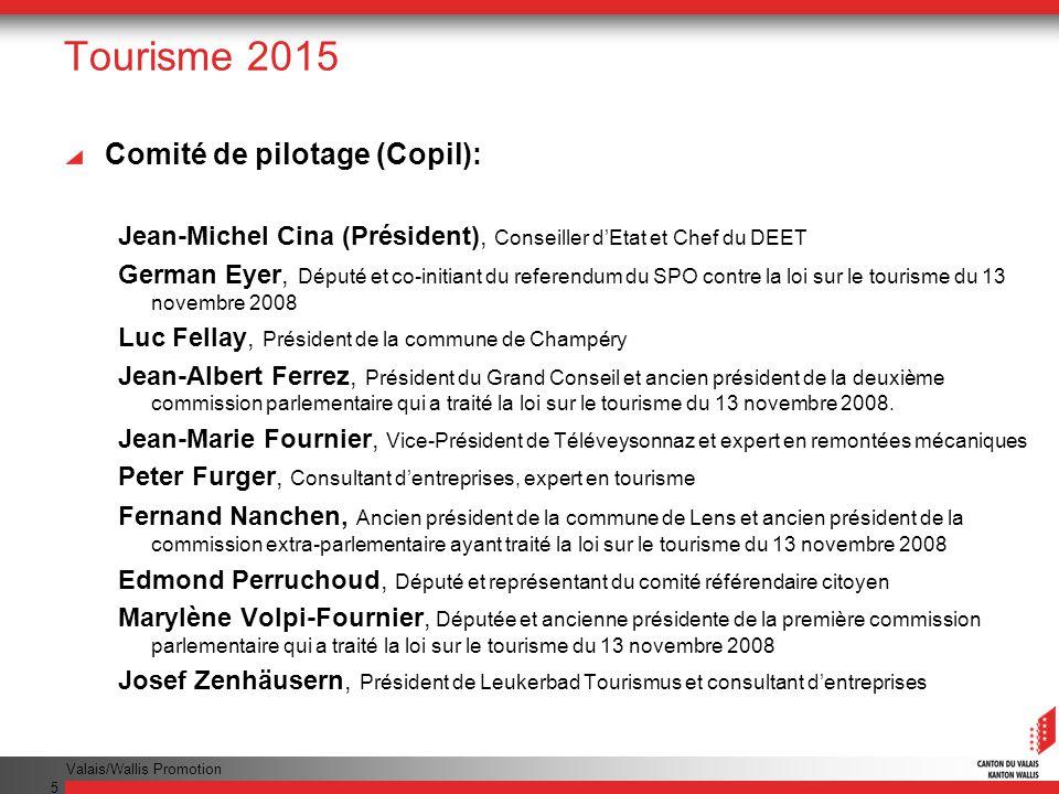 Tourisme 2015 Comité de pilotage (Copil):