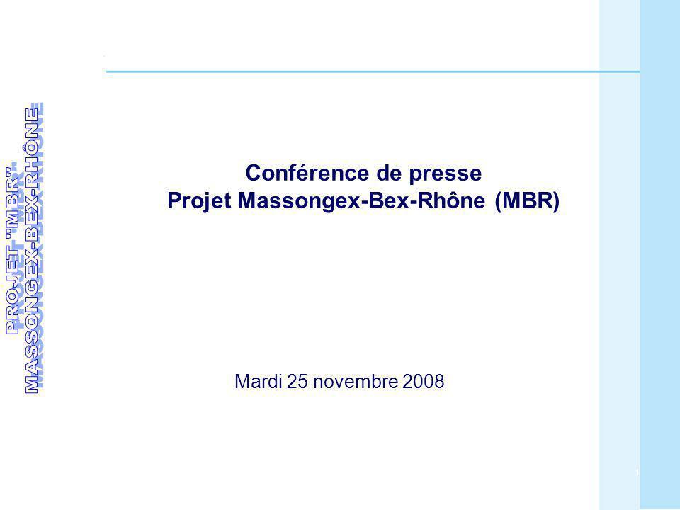 Conférence de presse Projet Massongex-Bex-Rhône (MBR)