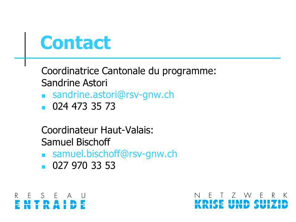 Contact Coordinatrice Cantonale du programme: Sandrine Astori