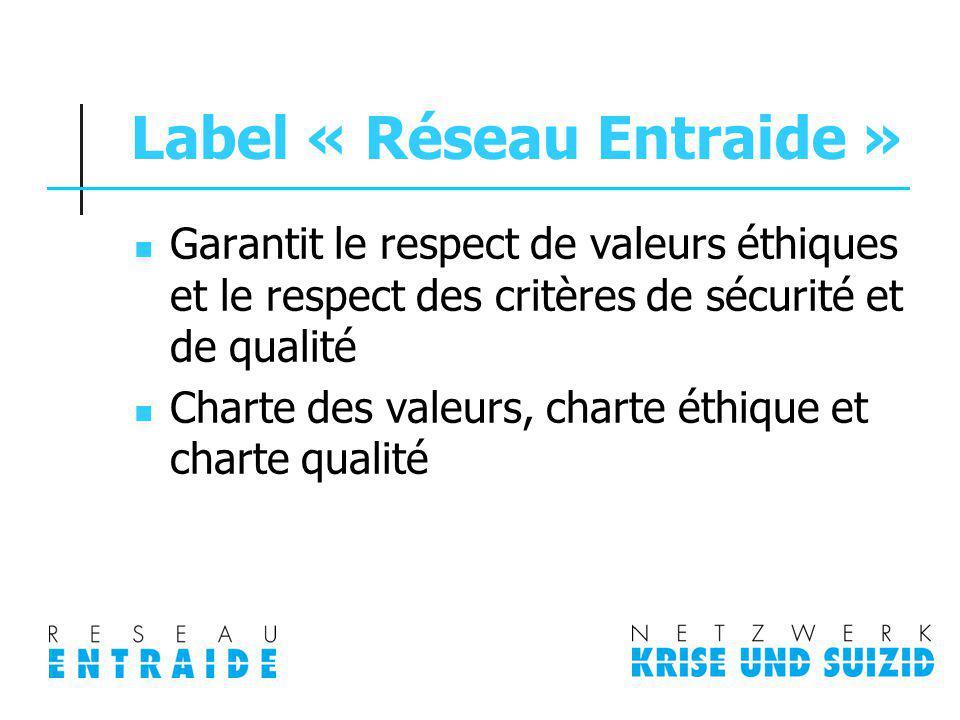 Label « Réseau Entraide »