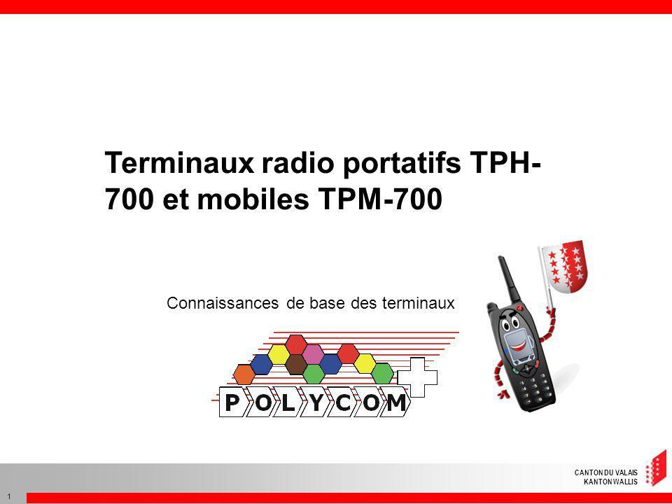 Terminaux radio portatifs TPH-700 et mobiles TPM-700