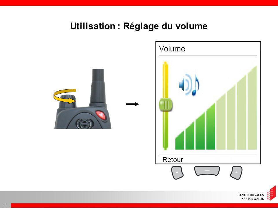 Utilisation : Réglage du volume