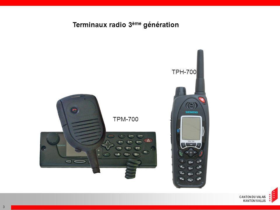 Terminaux radio 3ème génération