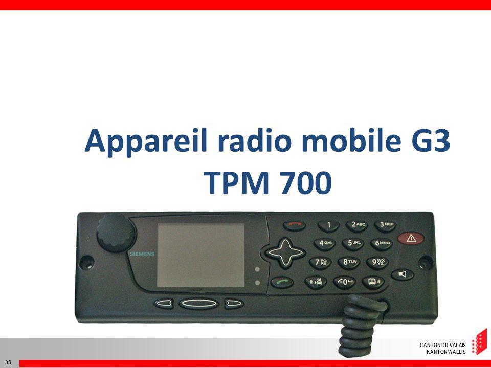 Appareil radio mobile G3