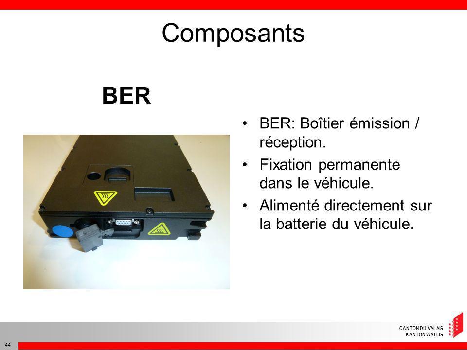 Composants BER BER: Boîtier émission / réception.