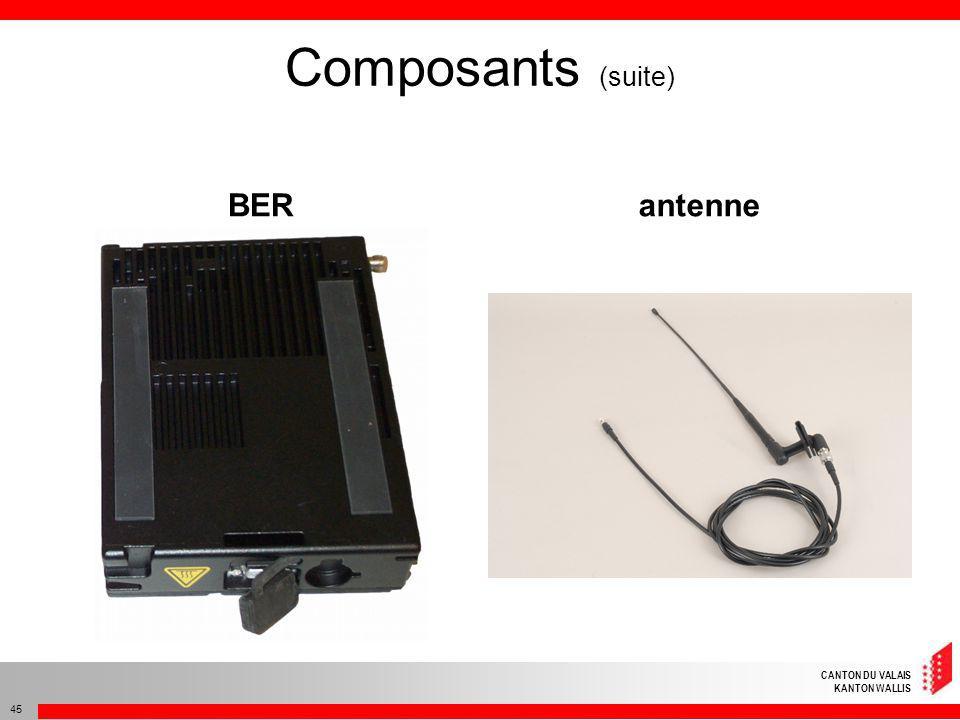 Composants (suite) BER antenne