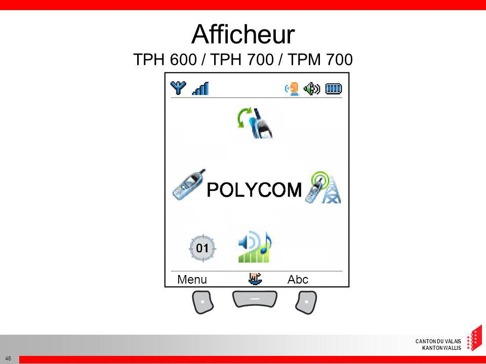 Afficheur TPH 600 / TPH 700 / TPM 700