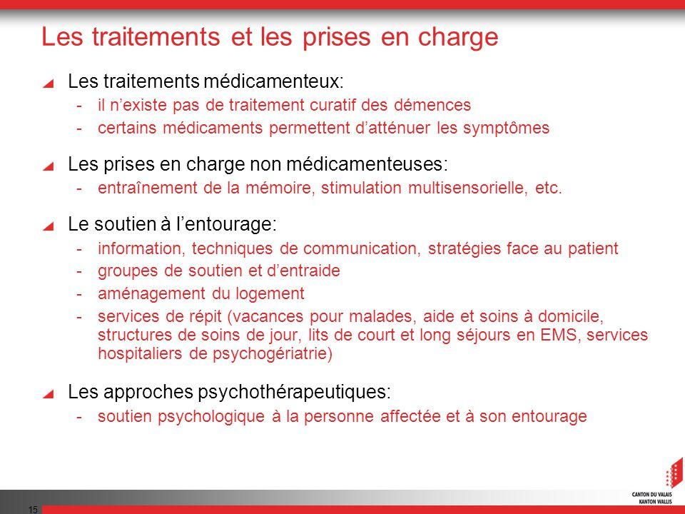 Les traitements et les prises en charge