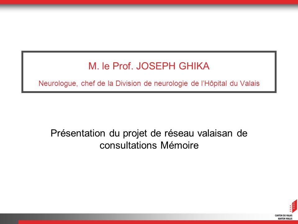 Présentation du projet de réseau valaisan de consultations Mémoire