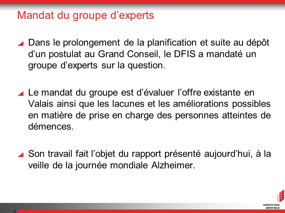 Mandat du groupe d'experts