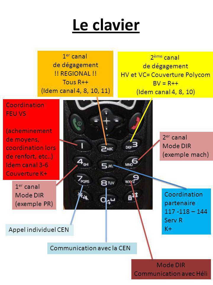 Le clavier 1er canal 2ème canal de dégagement de dégagement