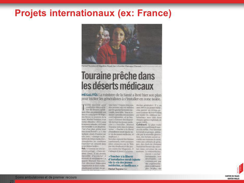 Projets internationaux (ex: France)