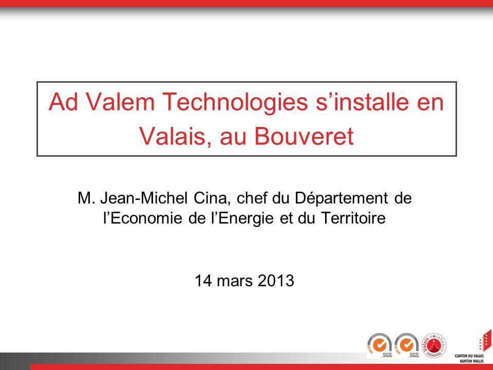 Ad Valem Technologies s'installe en Valais, au Bouveret