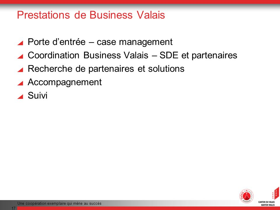 Prestations de Business Valais