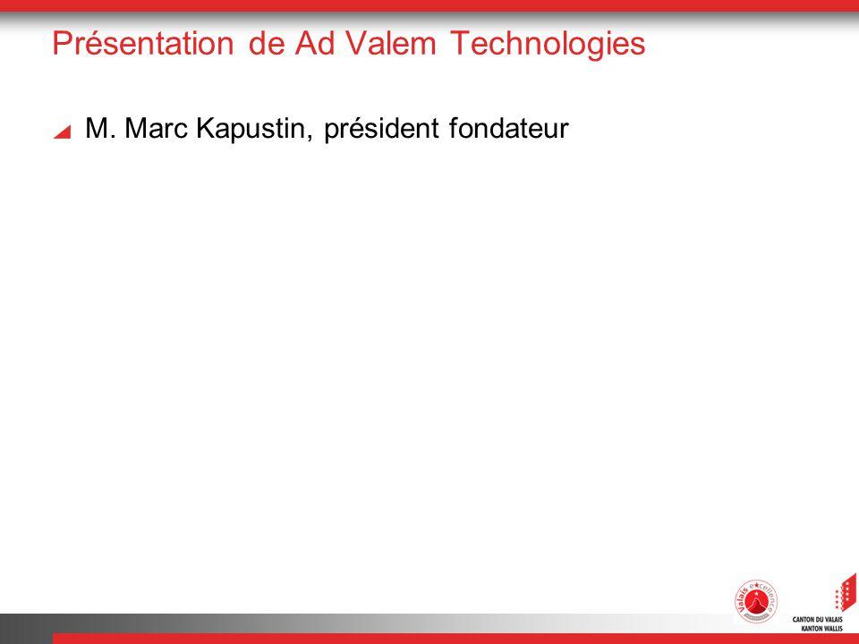 Présentation de Ad Valem Technologies