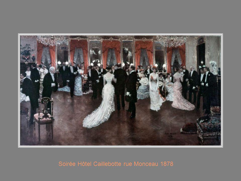 Soirée Hôtel Caillebotte rue Monceau 1878