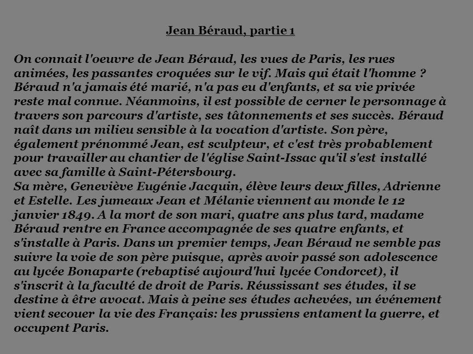 Jean Béraud, partie 1
