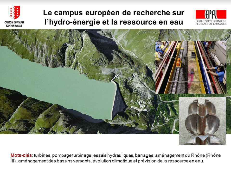 Le campus européen de recherche sur l'hydro-énergie et la ressource en eau