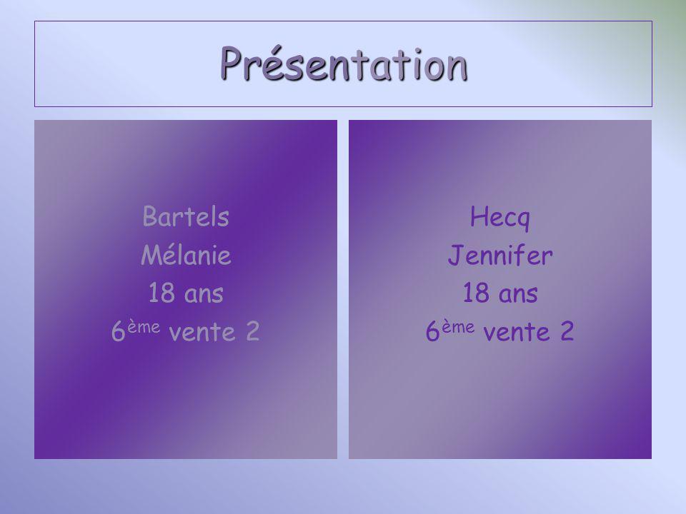 Présentation Bartels Mélanie 18 ans 6ème vente 2 Hecq Jennifer 18 ans